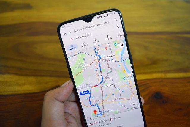 Reis plannen Google Maps